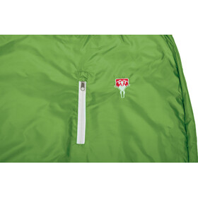 Grüezi-Bag Biopod Wool World Traveller Sacos de dormir Niños, holly green